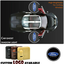 2x For Ford Logo Wireless Car Door Welcome Laser Projector Shadow CREE LED Light