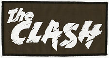 THE CLASH LARGE KHAKI GREEN BLACK AND WHITE PRINTED PATCH PUNK COMBAT ROCK