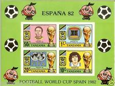 TANZANIA - 1982 - FIFA World Cup 1982 Championship in Spain - MNH Souvenir Sheet