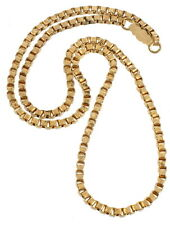 """ANTIQUE VICTORIAN GF GOLD FILLED BOOK CHAIN NECKLACE FOR LOCKET 2.5MM THICK 16"""""""