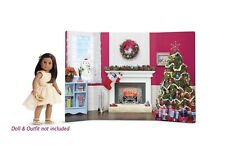 "American Girl TM COZY CHRISTMAS SCENE for 18"" Doll Tree Wreath Snowman NEW"