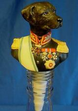 GOEBEL THIERRY PONCELET ARISTO DOG WINE BOTTLE STOPPER - GENERAL VON BLACKWETER