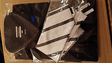 MENS SUIT WITH COMPLIMENTARY SHIRT+TIE - NEW WITH TAGS - SIZE 42 IN SUPER BLACK