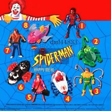 1995 McDonalds Spiderman MIP Complete Set & U3 - Lot of 9