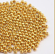 200 pcs gold plated metal ball plunger beads 5mm