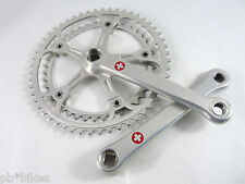 Campagnolo Super Record Crankset 175mm Gerber Pantographed red cross reprofiled