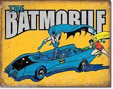 Batman Metal Sign The Batmobile Vintage Comic Large Tin Wall Poster Plaque 2028