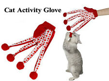 Red Pet Cat Toy Teaser Kitten Cat Scratcher Glove Interactive Toy 5 Fingers Toys