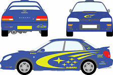 Subaru Impreza WRC Full Set Stickers Decal Racing Car Graphics  Size 253x73 Cm