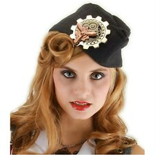 STEAMPUNK LG Brass PROPELLER & GEARS Pin Brooch Costume Prop Victorian Cosplay