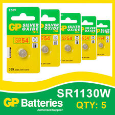 GP Silver Oxide Button Battery 389 (SR1130) card of 5  [WATCH & CALCULATOR]
