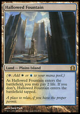 MTG HALLOWED FOUNTAIN FOIL POOR/BENT/PIEGATA - FONTANA SANTIFICATA - RTR - MAGIC