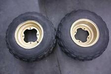 87 YAMAHA 350 WARRIOR YFM FRONT WHEELS W/ H-TRAK M/R 101 TIRES YFM350