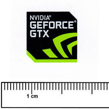 Nvidia GeForce GTX Laptop Computer Sticker Badge Processor Vinyl 18x18mm