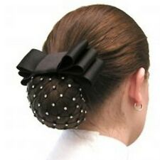 Diamond Net Black Show Bow Hair Clip Snood