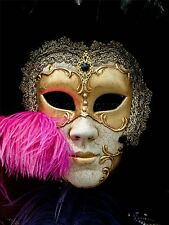 ART PRINT POSTER PHOTO VENETIAN MASK FEATHER BOA GOLD ORNATE COOL LFMP0055