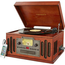 Vinyl Record Player Retro Turntable 3 Speed Ipod CD Cassette Radio Crosley NEW