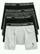 Polo Ralph Lauren Classic Fit 4 Cotton Boxer Briefs Men's Size LARGE NIB!