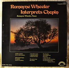 Romayne Wheeler Interprets Chopin Piano LP Vinyl Signed Private 1976 Bridge VG++