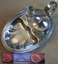VINTAGE HOTEL SILVER HOLLOWARE CONDIMENT SERVER - Cleveland Ohio Mid-Day Club