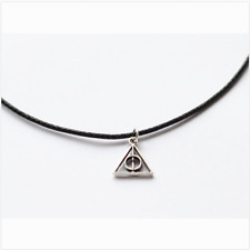 Deathly hallows choker, Harry potter necklace Pendant jewelry #2