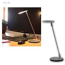 Lámpara de mesa LED 230V/3W Luz lectura Mate cromado para leer escritorio