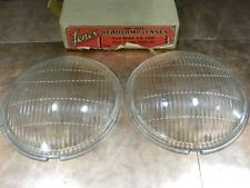 NOS Lenex Headlight Lens Pair 1935 Ford V8 1935 1936 1937 1938 1939 Ford Truck
