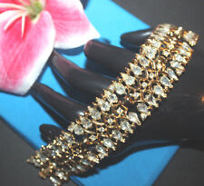 EXCEPTIONAL AND SUPER CLEAR WIDE TRIFARI SIGNED CROWN OVER THE T BRACELET-EXC...