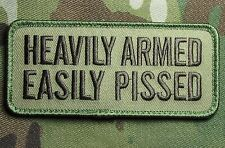 HEAVILY ARMED EASILY PISSED 2ND AMENDMENT MULTICAM BADGE VELCRO® BRAND PATCH
