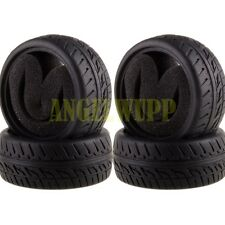 SET 63x26MM Rubber Tires Tyre Sponge 8021 For RC 1:10 HSP HPI On-Road Racing Car