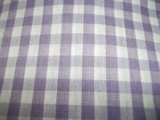 "Lavender GINGHAM  plaid 1/4""  purple checkered poly cotton quilting FABRIC 1 yd"