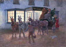 Coaching, Carriage driving Christmas cards pack of 10. C446x