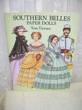 SOUTHERN BELLES PAPER DOLLS BY TOM TIERNEY 1993 CONFEDERATE UNIFORMS AND GOWNS