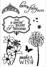 FAIRY DUST Collection 9 Clear Unmounted Rubber Stamps Kaisercraft CS242 NEW