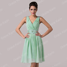 PRETTY STYLE Chiffon Cocktail Evening Prom Bridesmaid V Neck Gowns Short Dresses