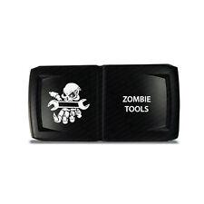 CH4x4 Rocker Switch V2  Zombie Tools Symbol 5 - Horizontal - Blue  LED