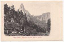 Litho Ak Sächsische Schweiz Amselgrund Blick nach den Gänsen um 1910 ! (A1576