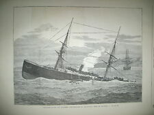 DOUVRES NAUFRAGE STEAMER STRATHCLYDE EXPEDITION ANGLAISE AU CONGO GRAVURES 1876