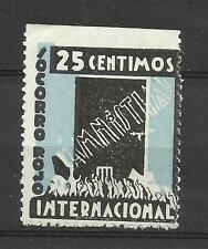7543--SPAIN CIVIL WAR SOCORRO ROJO INTERNACIONAL AMNISTIA NUEVO ** 100,00€. RARO