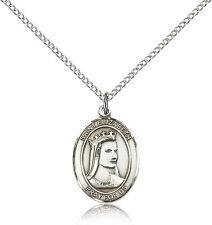 Saint Elizabeth Of Hungary Medal For Women - .925 Sterling Silver Necklace On...