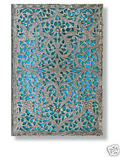 Paperblanks Address Book Blue Silver Filigree Midi Size Maya Blue 5X7 New