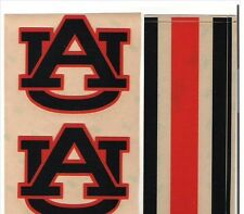 AUBURN TIGERS FULL SIZE FOOTBALL HELMET DECALS W/STRIPE