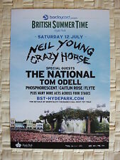NEIL YOUNG AND CRAZY HORSE FLYER JULY 2014 - LARGE FLYER, The National &TomOdell