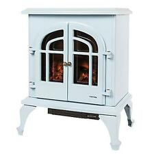 Warmlite 2000W Electric Log Effect Stove Fire Baby Blue WL46001