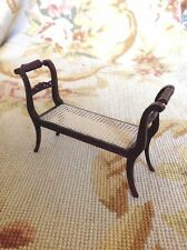 Bespaq Handcrafted Artist Made Vintage Caned Bench 1:12 Furniture & Room Items