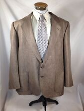 Terzo Uomo Brown Two Button Sport Coat Blazer Size 48 L Microfiber