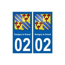 02 Essigny-le-Grand ville autocollant plaque sticker arrondis
