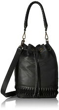Liebeskind Berlin Debby Laser2 Vintage Leather Bucket Bag Black New With Tag