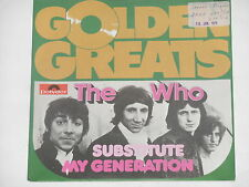 """THE WHO -Substitute- 7"""" 45 Golden Greats Archiv mint"""