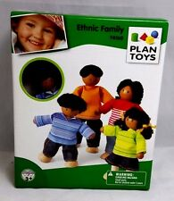 PLAN TOYS 4-pcs ETHNIC Family 4 Doll Houses
